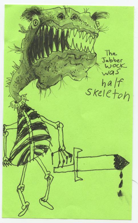 jabberwock half skeleton